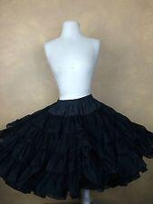 "Square Dance Petticoat  Doris Chrystal Magic Black Crinoline 60 Yd 19"" Very Full"