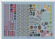 1/35 helmet All Size USA flag brassard collar badge Model Kit Water Slide Decal