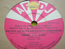 78 rpm-IDA COX with LOVIE AUSTIN BLUES SERENADERS - Weary way blues- AFCDJ A 014