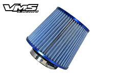 "VMS RACING BLUE HIGH FLOW 3"" COLD AIR RAM INTAKE CONE FILTER FOR NISSAN INFINITI"