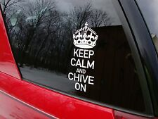 Genuine Keep Calm and Chive On Decal from The Chive KCCO stickers car