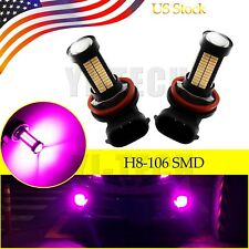 2x Super purple H11 H8 Auto LED Bulbs For Car Truck Fog Lights Lamp 106SMD