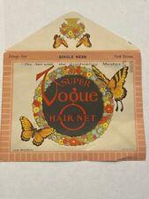 1943 SUPER VOGUE HAIR NET - BUTTERFLY THEME