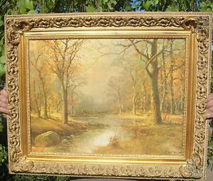 PICTURE FRAME PRINT of OIL PAINTING BY ROBERT WOOD