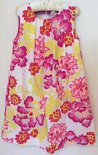Mini Boden Party Dress Girls Size 7 8 EUC White w/ Pink & Yellow Floral Print