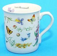 Marjolein Bastin Ceramic Cup Mug Nature's Sketchbook Hallmark Floral Vintage EUC