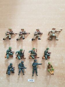 Britains Deetail WW2 American and British Infantry 12 figures (lot 3470)
