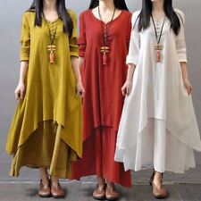 5XL Loose Maxi Dress Zanzea Women V Neck Long Sleeve Mori Girl Casual Big Skirt