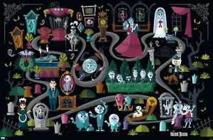 Disney Haunted Mansion - Map Poster