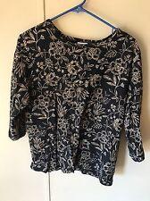 Columbia 3/4 Sleeve Shirt Blouse Women's Size XL