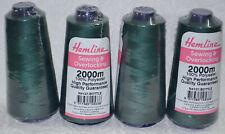 Bottle Green Sewing Overlocker Thread 2000m Hemline Polyester Overlocking Spools