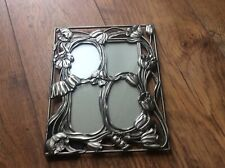 Gorgeous Picture Photo Frame Art Nouveau style tulip design. Metal frame.