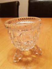 Vintage Small Glass 3 Footed Decrotive Bonbon Dish Bowl