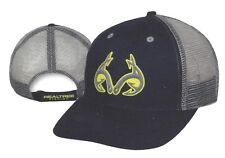 New REALTREE FISHING MESH Back Structured Hat Navy w/Grey Hooks Logo