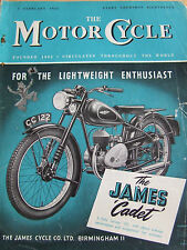 THE MOTORCYCLE FEB 1953 WINTER OVERHAUL PILLION TO SADDLE PARTITOURING FRANCE
