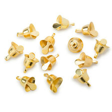 Gold Liberty Bells 3/8 Inches (.375 Inches, 9.5mm), 12 Pieces per Package