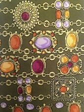 CHANEL cravate en 100% soie-khakigrün avec motif #60