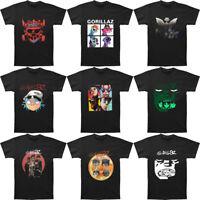 New Gorillaz T Shirts Rock Band Short Sleeve Men's T-Shirt Black