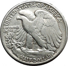 1941 WALKING LIBERTY Half Dollar Bald Eagle United States Silver Coin i44706