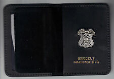 New Jersey PBA Officer's Grandmother Wallet (Silver Plated Mini Pin Included)