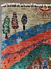 New Handmade Pakistani Pictorial Tribal Rug,Pastoral Scene,Also Sold as Pair 5x7