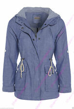 Hip Length Cotton Casual Popper Coats & Jackets for Women