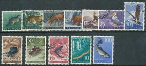 YUGOSLAVIA 1954 ANIMALS SET USED FISH BIRDS BIN PRICE GB£12.00