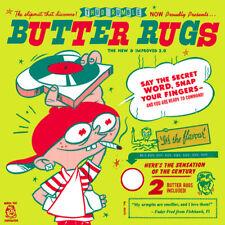 Thud Rumble Butter Rugs - WHITE Slipmats Qbert PAIR NEW!!