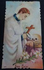 ESTAMPA HOLY CARD SAN LUIS GONZAGA ANDACHTSBILD SANTINI                   CC1444
