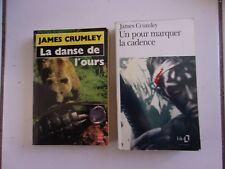 lot James CRUMLEY La danse de l'ours + un pour marquer la cadence
