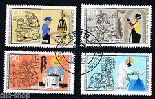 GERMANIA BERLINO BERLIN 4 FRANCOBOLLI PRO GIOVENTU PROFESSIONI 1987 timbrato