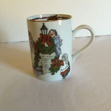 Fitz & Floyd DECK THE HALLS Holiday Cat Mug Christmas Limited Edition