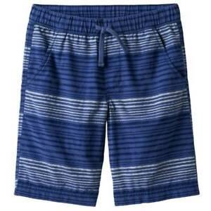 Boys Shorts Urban Pipeline Blue Striped Elastic Waist Casual Twill-size 14/16