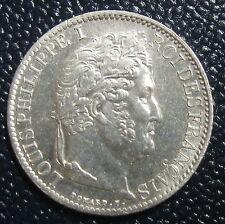 1/2 FRANC 1838 A - LOUIS PHILIPPE I - Argent - SPLENDIDE