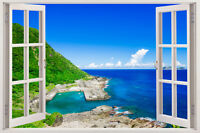 Wall Beach 3d Window Decal Decor View Removable Art Home Vinyl Stickers Sticker