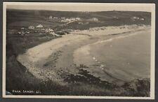 Postcard Praa Sands nr Penzance Cornwall early view RP