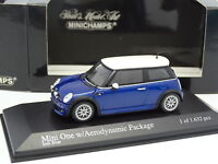 Minichamps 1/43 - BMW Mini One Aerodynamic Package Bleue