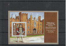 Gibraltar 2009 MNH King Henry VIII 500th Anniv Accession Throne 1v Sheet Palace