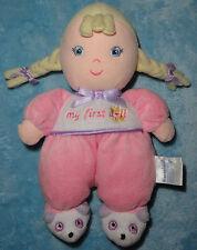 Garanimals My First Doll Rattle Pink Blond Hair Plush Baby Toy Panda Slippers