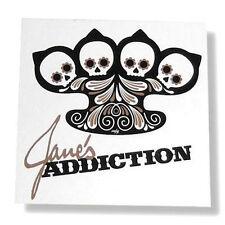 JANE'S ADDICTION - BRASS KNUCKLE SUGAR SKULL STICKER - NEW