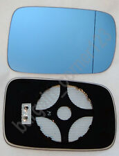 Right Driver Side Wing Mirror Glass HEATED BLUE ASPHERIC BMW 3 E46 COUPE 98-05