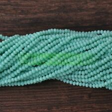 Rondelle Faceted Jade Crystal Glass Loose Spacer Beads 3/4/6/8/10mm Jewelry DIY