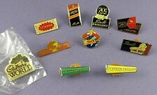 Lot of 10 Chocolate & Sweet Badges - Lindt, Cadbury World, Twix, Fruit Tella ..