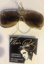 ELVIS PRESLEY TCB GOLD Sunglasses Keychain Christmas Ornament Kurt Adler NEW