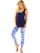 🐬 Lilly Pulitzer Leggings XL JELLIES BE JAMMIN Iris Pop Up Luxletic 🐳