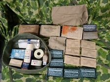 LOT: WW2 US Navy Bandage Tape First Aid Kit Supplies Corpsman Medic USN WWII