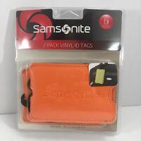 Samsonite Vinyl ID Tags 2 Pack Orange