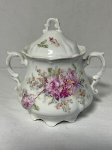 HOF-MOSCHENDORF Bavaria Porcelain Lidded Sugar Bowl 1878 Marked
