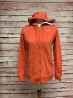 Burton Orange Full Zip Hoodie Soft Fleece Ski Snowboard, Size Women's Medium
