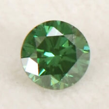 100% Natural Green Loose Diamond 0.11Ct Sparkling Round Shape With Certificate